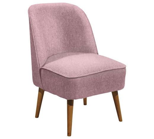 SESSEL in Textil, Holzwerkstoff Rosa - Rosa/Kieferfarben, Trend, Holz/Holzwerkstoff (54/83/66cm) - Carryhome