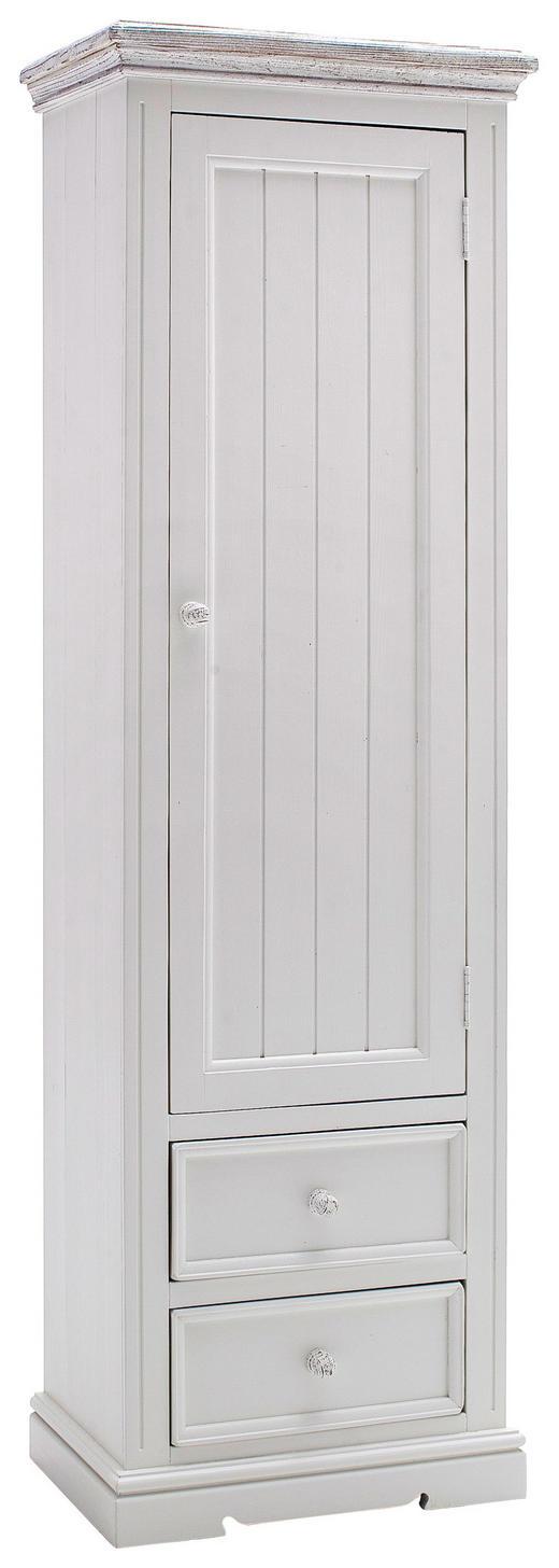GARDEROBENSCHRANK Kiefer massiv lackiert Weiß - Weiß, LIFESTYLE, Holz (60/200/40cm) - Landscape