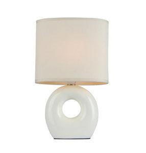 STONA LAMPA - Bela, Lajfstajl, Tekstil/Keramika (18/12/19cm) - Boxxx