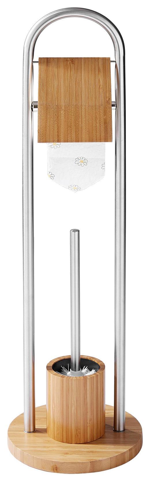 WC-BÜRSTENGARNITUR - Holz/Metall (80cm)