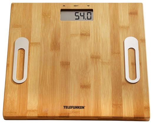 Personenwaage Telefunken - Braun, Basics, Holz (30/30/2,9cm)