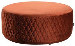 HOCKER in Holz, Textil Rostfarben  - Rostfarben/Schwarz, MODERN, Holz/Textil (80/80/36cm) - Carryhome