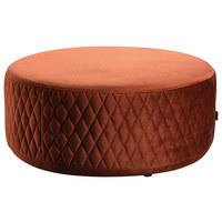 TABURET, rezavá - černá/rezavá, Moderní, dřevo/textil (80/36cm) - Carryhome