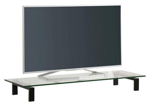 TV-AUFSATZ  Glas, Metall  Schwarz - Schwarz, Basics, Glas/Metall (110/12,5/35cm)