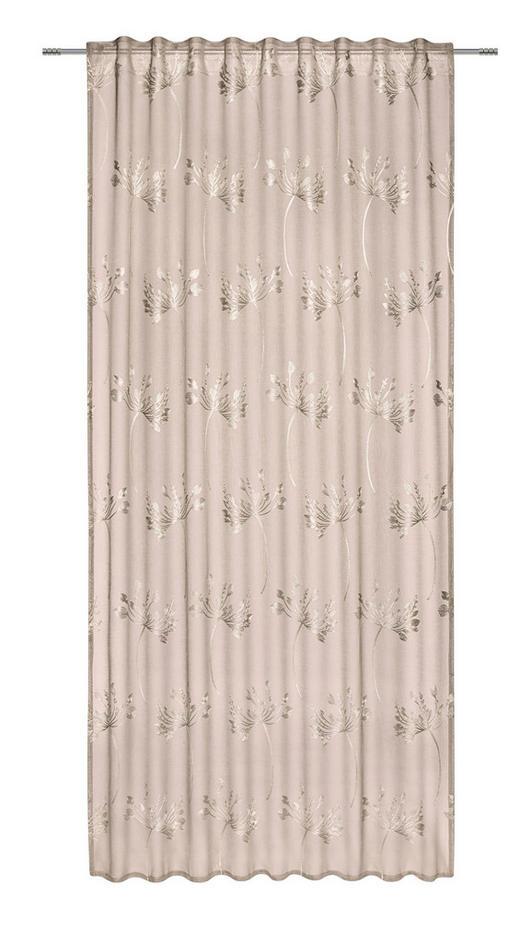 FERTIGVORHANG  halbtransparent  135/245 cm - Taupe, KONVENTIONELL, Textil (135/245cm) - Esposa