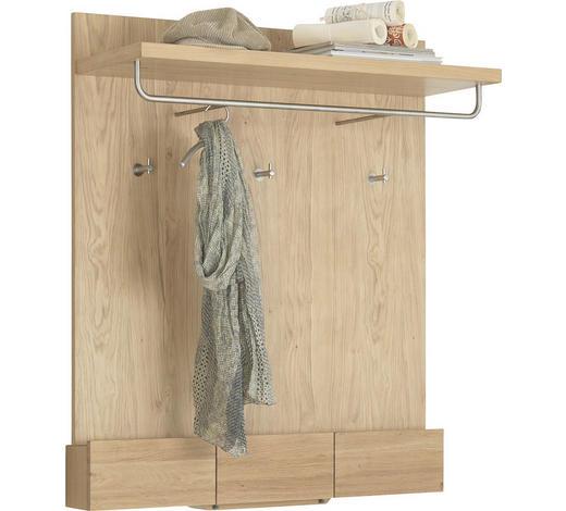 GARDEROBENPANEEL Wildeiche massiv geölt Eichefarben  - Eichefarben, Design, Holz (96/112/37,5cm) - Voglauer