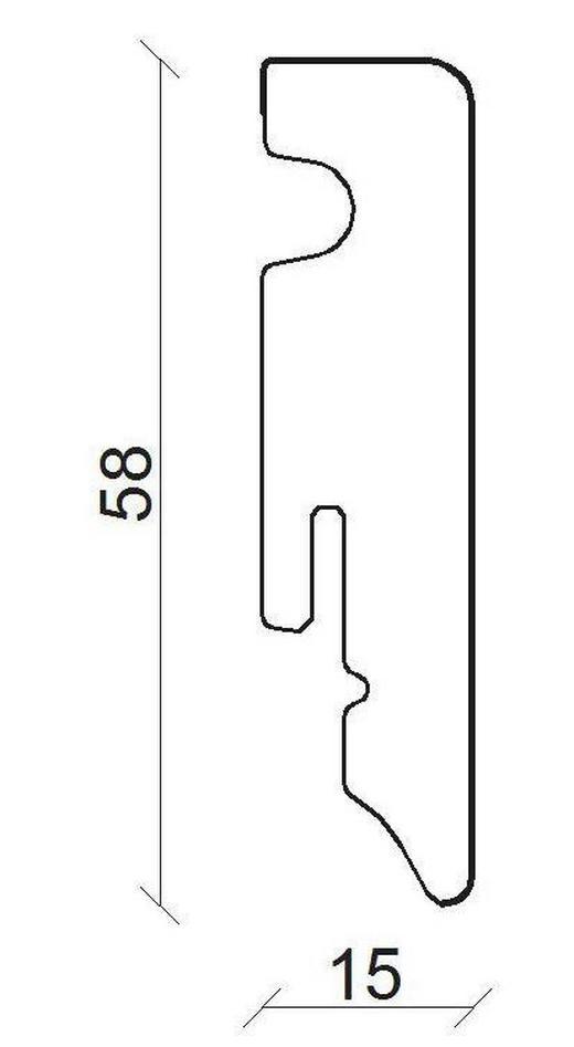 SOCKELLEISTE Alufarben - Alufarben, Basics, Holzwerkstoff (1,5/5,8/240cm) - Homeware