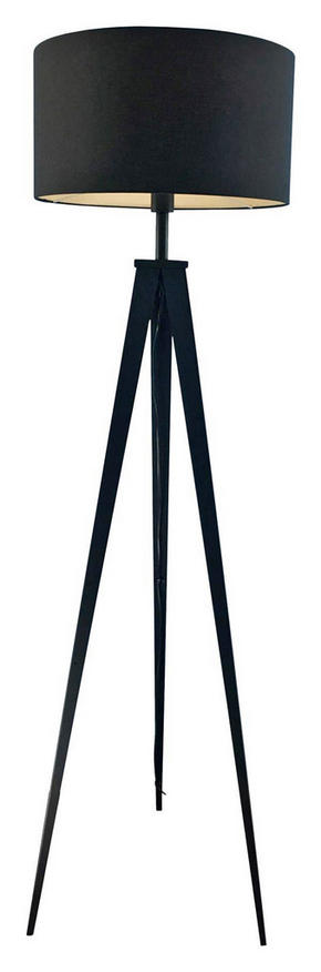 GOLVLAMPA - svart, Lifestyle, metall/textil (49/157,5cm) - Ambiente