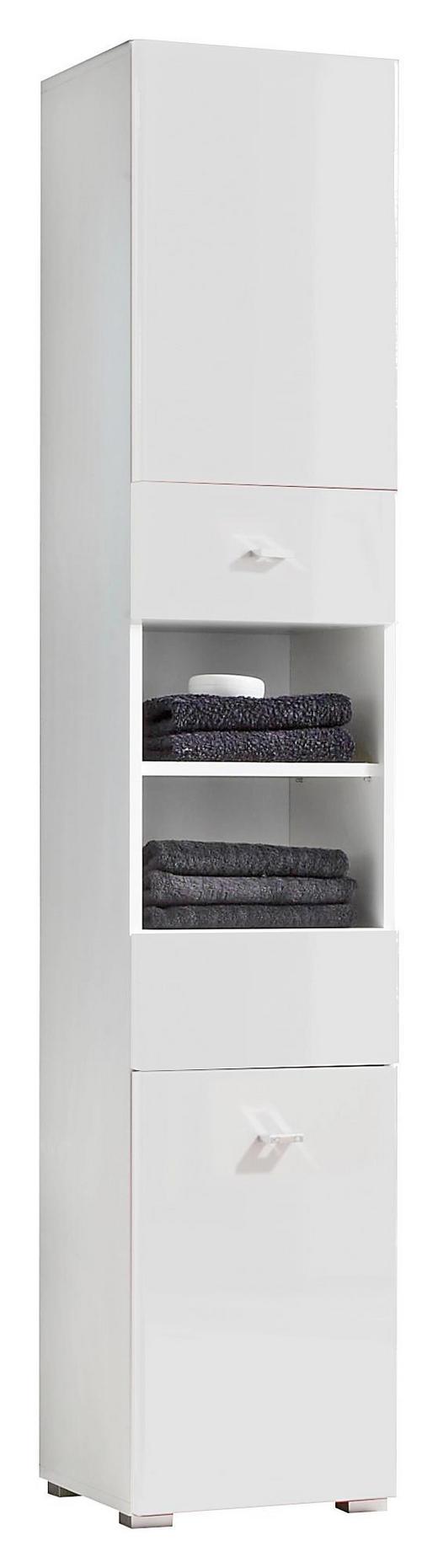 HOCHSCHRANK Weiß - Silberfarben/Weiß, Design, Holzwerkstoff/Kunststoff (38/190/31cm) - Xora