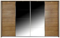 Schwebetürenschrank Bensheim B:271cm Rivera Eiche Dekor - Eichefarben, MODERN, Holzwerkstoff (271/211/62cm) - James Wood
