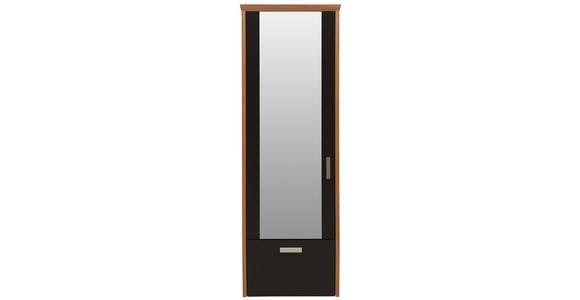 GARDEROBENSCHRANK 65/187/32 cm  - Eichefarben/Silberfarben, Design, Glas/Holz (65/187/32cm) - Dieter Knoll