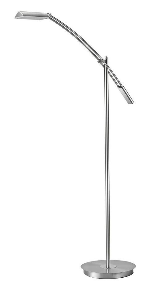 LED-STEHLEUCHTE - Nickelfarben, Design, Metall (70/130cm)
