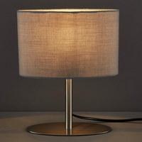 TISCHLEUCHTE - Grau, KONVENTIONELL, Textil/Metall (20/10/25cm) - Boxxx