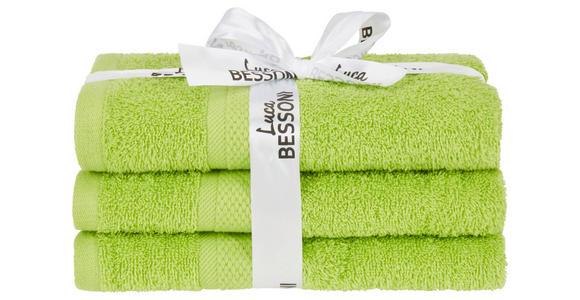 Handtuch Fiolina - 3er Pack - Grün, MODERN, Textil (50/100cm) - Luca Bessoni