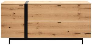 SIDEBOARD 184,8/86,5/49,5 cm  - Eichefarben/Anthrazit, Natur, Holz/Holzwerkstoff (184,8/86,5/49,5cm) - Moderano