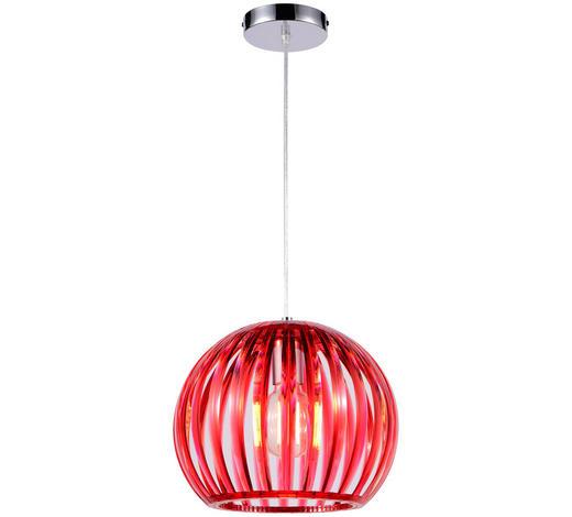Hängeleuchte - Rot, Lifestyle, Kunststoff (30,5/150cm) - Boxxx