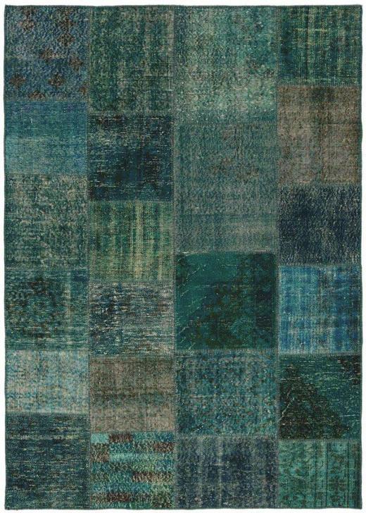 TEPPICH  140/200 cm  Blau, Grün, Türkis - Türkis/Blau, Basics, Textil (140/200cm)
