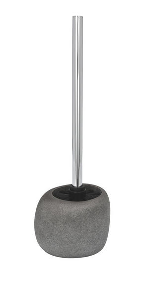 TOALETTBORSTSET - kromfärg/grå, Basics, plast (11.9/10.8/25cm)