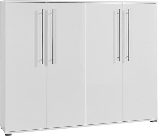SCHUHSCHRANK foliert Weiß - Alufarben/Weiß, Design, Metall (160/127/34cm)