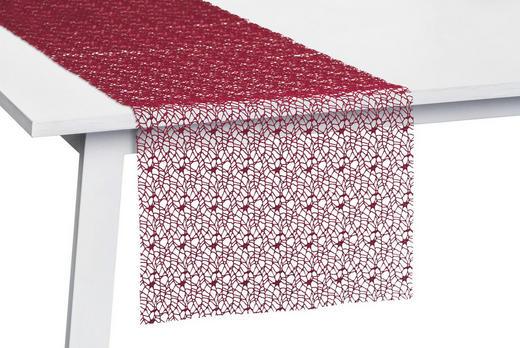 TISCHLÄUFER Textil Netz Bordeaux 45/140 cm - Bordeaux, Basics, Textil (45/140cm)