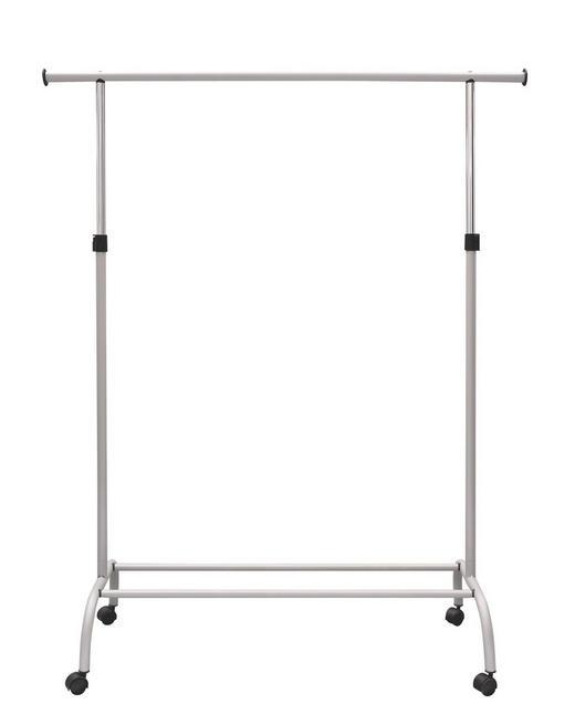 KLEIDERWAGEN Alufarben - Alufarben, Design, Kunststoff/Metall (100/116/186/40cm) - CARRYHOME