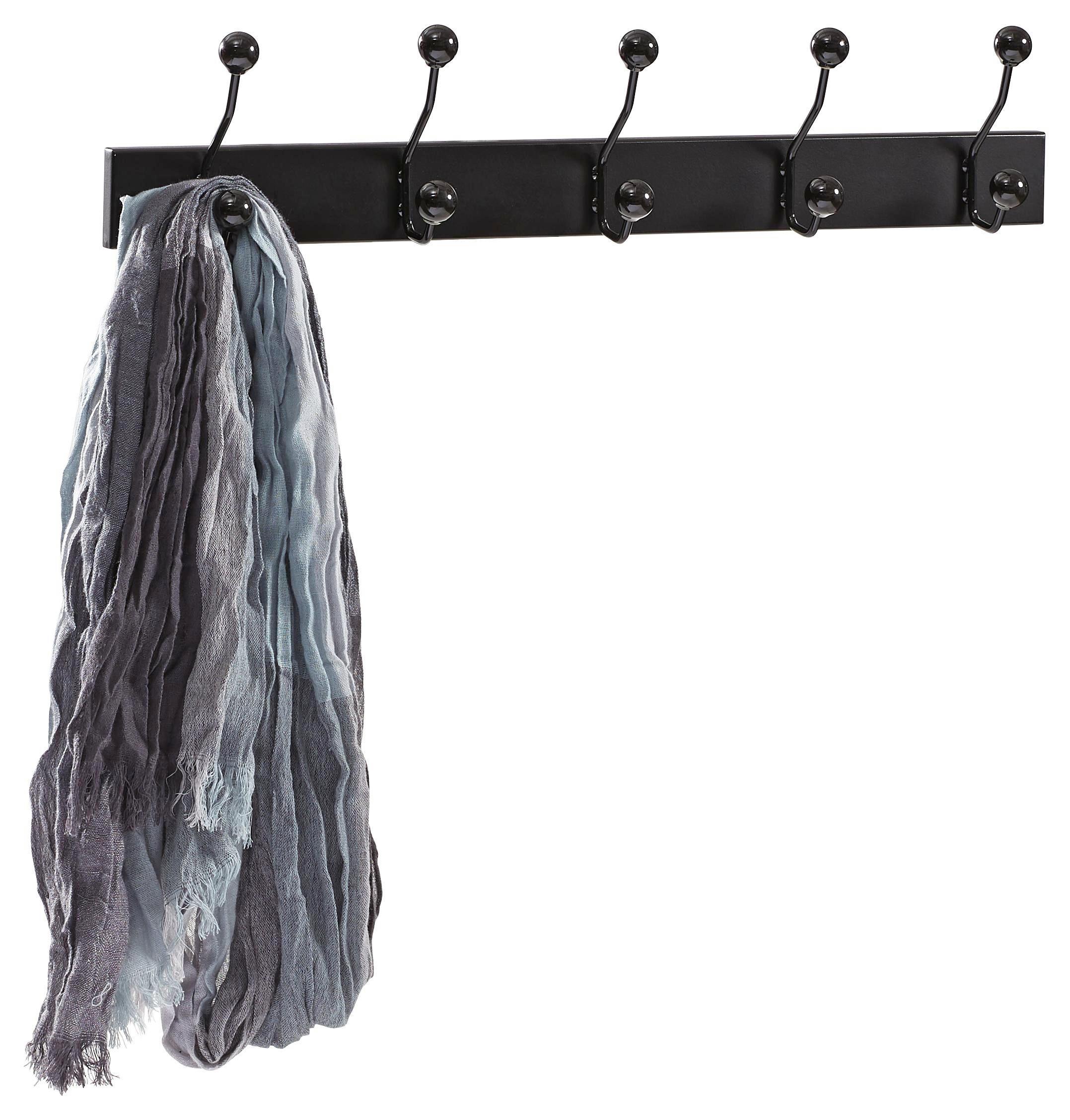 VJEŠALICA ZIDNA - crna, Design, drvni materijal/metal (65/13/7cm) - LESNINA-XXXL