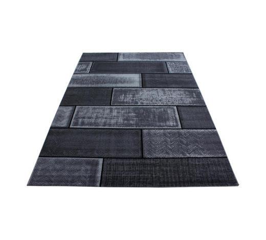 HOCHFLORTEPPICH - Schwarz, KONVENTIONELL, Textil (80/150cm) - Novel