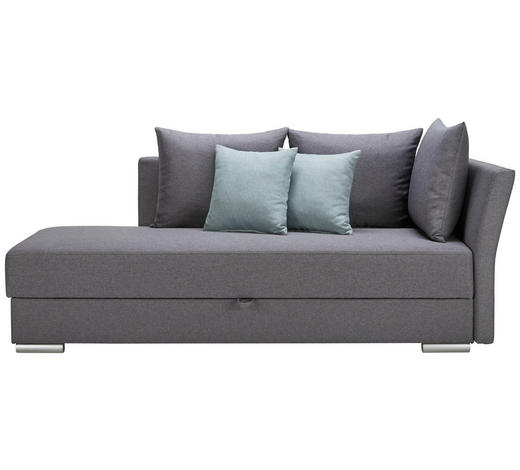 VÁLENDA, textil, šedá - šedá/mátově zelená, Design, textil/umělá hmota (220/93/100cm) - Xora