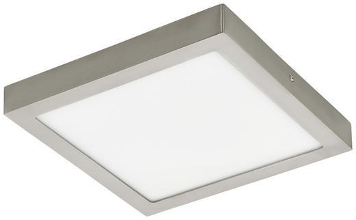 AUFBAULEUCHTE LED-Leuchtmittel - Nickelfarben, Basics, Kunststoff/Metall (30/30/4cm)