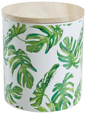 FÖRVARINGSBURK - grön/naturfärgad, Trend, trä/keramik (12/13,2cm) - Ambia Home