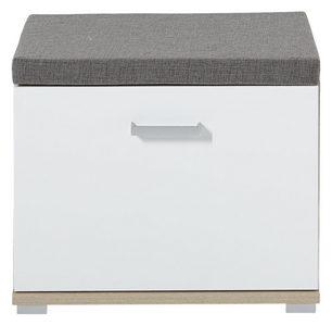 KLUPA ZA PREDSOBLJE - Boje hroma/Siva, Konvencionalno, Tekstil/Metal (60/50/38cm) - Xora