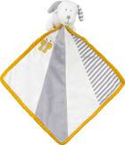 ŠÁTEK MAZLÍCÍ - bílá/šedá, Basics, textil (24/24cm) - My Baby Lou
