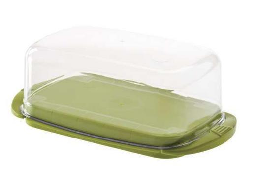 BUTTERDOSE Kunststoff - Transparent/Grün, Basics, Kunststoff (18/9.5/5cm)