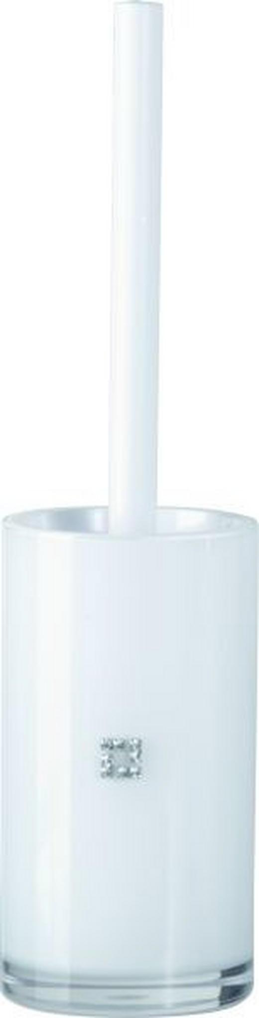 WC-BÜRSTENGARNITUR - Weiß, Design, Kunststoff (9/35cm)