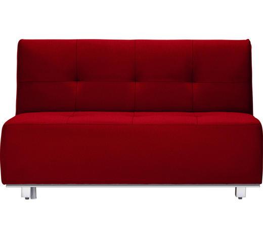 SCHLAFSOFA in Textil Rot - Chromfarben/Rot, Design, Textil/Metall (144/88/103cm) - Novel