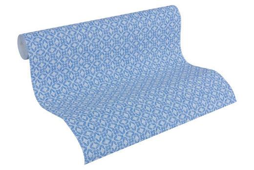 VLIESTAPETE 10,05 m - Blau/Weiß, Design, Textil (53/1005cm)