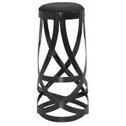 BARSKI STOL, črna - črna, Design, kovina/tekstil (38/80/38cm) - NOVEL