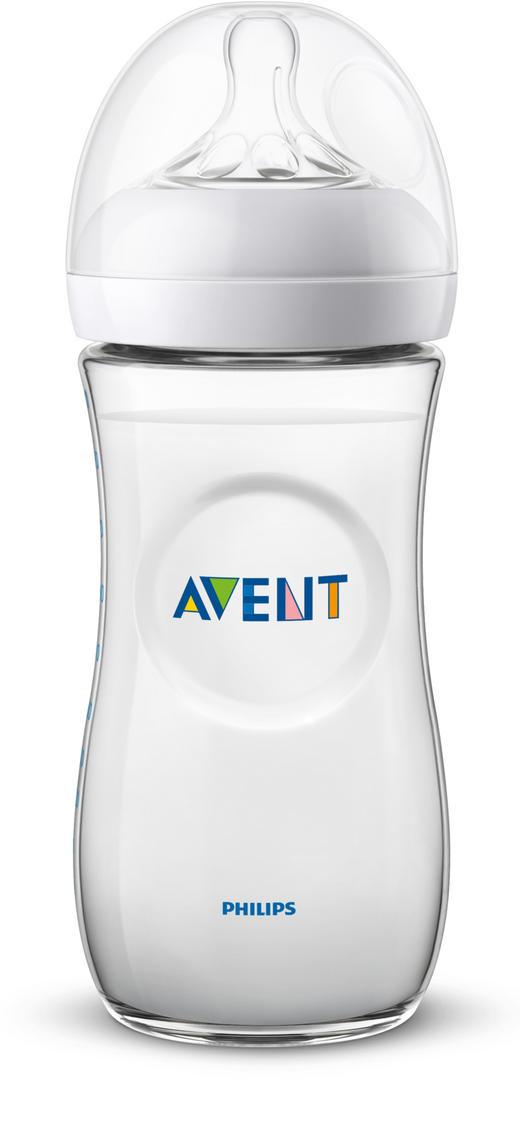 WEITHALSFLASCHE 330 ml - Transparent, Basics, Kunststoff (7,1/18,9/cm) - Avent