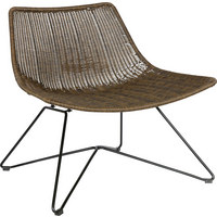 STUHL in Kunststoff, Metall Braun - Braun, Design, Kunststoff/Metall (77/65/45cm) - Ambia Home