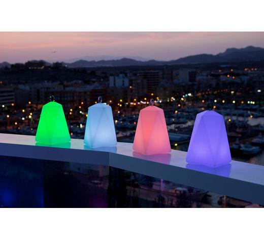 LED LEUCHTE FARALAY SOLAR - Weiß, Design, Kunststoff (21/39cm)