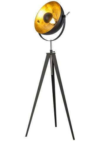 Stehleuchte - Goldfarben/Schwarz, Trend, Metall (40/168cm)