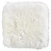 SCHAFFELL SITZKISSEN  34/34 cm  Weiß - Weiß, Basics, Leder/Textil (34/34cm) - Linea Natura