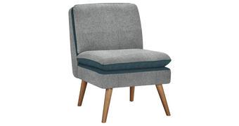 SESSEL in Holz, Textil Blau, Hellgrau - Blau/Hellgrau, Design, Holz/Textil (57/82/72cm) - Carryhome