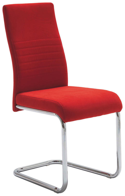 HOUPACÍ ŽIDLE, textil, červená, - červená, Design, kov/textil (43/96/59cm) - Carryhome