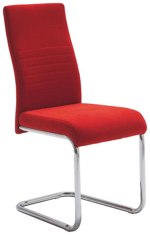 HOUPACÍ ŽIDLE, textilie, červená, - červená, Design, kov/textilie (43/96/59cm) - Carryhome