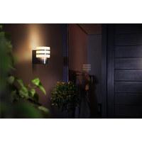 LED-AUßENWANDLEUCHTE HUE WHITE Edelstahlfarben  - Edelstahlfarben, Design, Kunststoff/Metall (15/18,5/18cm) - Philips