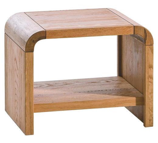 NACHTKÄSTCHEN in massiv Eiche Eichefarben  - Eichefarben, Design, Holz (50/40/40cm) - Hasena