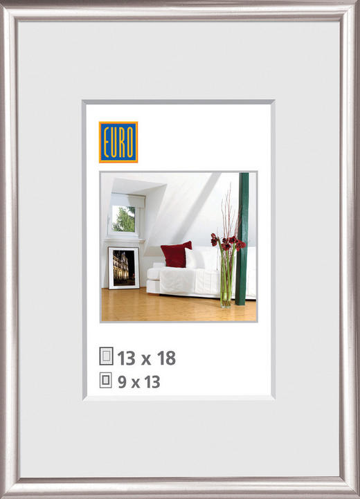 BILDERRAHMEN in Silberfarben - Silberfarben, Basics, Glas/Kunststoff (71/101/1.8cm)