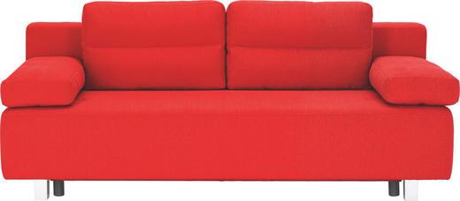 SCHLAFSOFA Webstoff Rot - Rot/Alufarben, Design, Kunststoff/Textil (204/70/80/94cm) - CARRYHOME