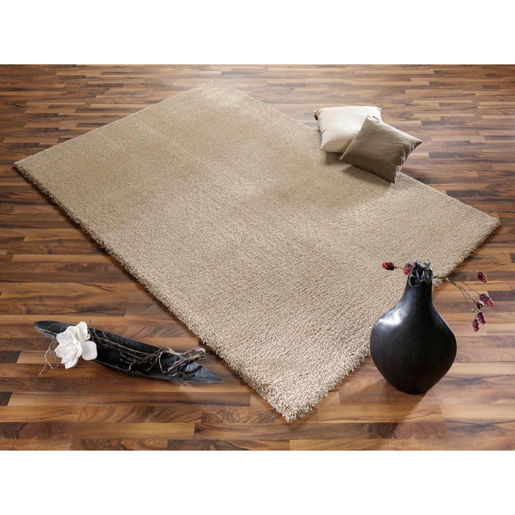 Novel Webteppich Liberty , Beige , Textil , Uni , rechteckig , 65 cm , Teppiche & Böden, Teppiche, Moderne Teppiche
